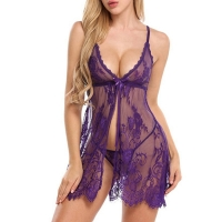 Ladies Lace Sleepwear Babydolls Women see though porno Lingerie Ropa Sexy Para El Sexo Womens Lingerie Nightgown Plus Size