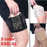 1pc Women Anti Chafing Floral Lace Thigh Bands Ladys Sexy Slim Leg Warmers Cuffs Phone Pocket Card Cell Anti-slip Thigh Pocket