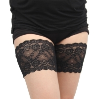 2019 Thigh Bands Black Summer Sexy Lace Flower Design Women Anti-skid Socks Thigh Garters Leg Warmers one pair S-4XL