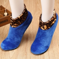 Women Man Winter Warm Thicken Bed Patchwork Leopard Sock Non Slip Elastic Floor Socks Slipper 9 Colors