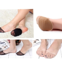 Thick Flesh Color Invisible Foot Toe Socks  Pad Mat Half  Pad  Transparent Breathable Gauze Sponge Pad Insole Socks