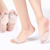 1Pair Women Toe Separator Forefoot Insole Shoes Pads High Heel Soft Insole Anti-Slip Pain Relief Foot Protection Care Liners New