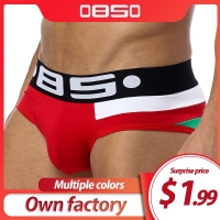 Brand Men Underwear Sexy Men Briefs Breathable Mens Slip Cueca Male Panties Underpants Briefs 5 colors B113