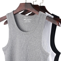 Men Undershirt Cotton Male Sleeveless Muscle Vest Cotton Undershirts Seamless Underwear Clothing Fitness Gym Clothes