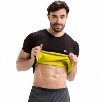 CHENYE Man's Undershirt T Shirts Short Sleeves Tops Body Shapers Belts Slimming Shirt Abdomen Corsets Neotex Sweat Waist Trainer