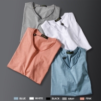 Bamboo Underwear Men Sleepwear Short Sleeve Nightshirt Patchwork Blank White Shirt Loose Pajama Casual Sleepshirt Homewear Mens