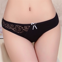 Sexy Lace Panties for Women Cotton Underwear Girl Transparent Briefs Ladies Bikini Knickers Plus Size Lingerie Intimates 1 Piece