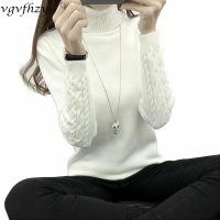 Women Turtleneck Winter Sweater Women 2020 Long Sleeve Knitted Women Sweaters And Pullovers Female Jumper Tricot Tops LY571