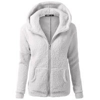 SAGACE Zipper Warm Fashion Hoodies Women Long Sleeve Overcoat Outwear Female Sweatshirts Cotton Coat Gray Plus Size S-5XL 9118