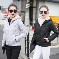 Parkas Hot Sale Basic Jackets 2020 New Cotton 1PC Popular Hooded Coats High Quality Autumn Female Winter Lamb Women Plus Velvet