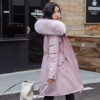 New Women Long Coat Autumn Winter Warm Velvet Thicken Faux Fur Coats Parka Female Solid Big Pocket Jacket Outwear