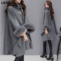 2019 Autumn Winter Women Coat Wide Lapel Loose Warm Outwear Female Casual Jumper Ladies Loose Coat Women Cloak Wool Coat mujer