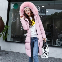 Winter jacket women high quality down coat female 2020 long slim solid color female Jackets zip fur collar women down Jacket