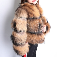2019 Winter New natural fox fur coat  short section warm thickening real fox fur jacket fashion luxury slim real fur coat women