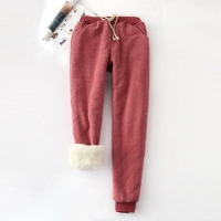 Winter Cashmere Harem Warm Pants Women 2020 Causal trousers Women Warm Thick Lambskin Cashmere Pants Women Loose Pant