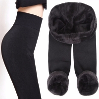 CHLEISURE S-XL 8 Colors Winter Leggings Women's Warm Leggings High Waist Thick Velvet Legging Solid All-match Leggings Women
