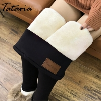 Winter Pants Women Thermal Leggings High Waisted Pants for Women Flannel Streetwear Trousers Women Winter Casual Pants Women 5XL