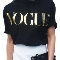 T shirt women tshirt 2020 new vintage vogue letter print women short sleeve summer style T-shirt female vestidos ropa mujer T012