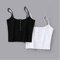 Summer 2019 Women Strap Crop Top Women Sexy Backless Leakage Navel Solid Camisole Sexy Tank Top Tube Top Breathable Crop tops