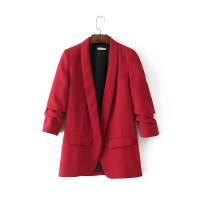 Jacket women Blazer new vertical fold female jackets пиджак женский blazer feminino chaqueta mujer 6 colors coat spring