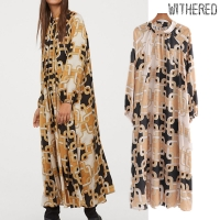 Withered england vintage court chain printing party dress women vestidos de fiesta de noche vestidos loose maxi dress blazers