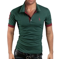 Hot Selling Batch Summer Men'S Wear New Style Plus-sized Multi-Color Fawn Polo Shirts Men's Short Sleeved Polo Shirt