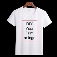 Customized Print T Shirt Women's Girl's DIY Photo Logo Brand Top Tees T-shirt Men's Boy's clothes Casual Kid's Baby's Tshirt