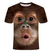 2019 Men's T-Shirts 3D Printed Animal Monkey tshirt Short Sleeve Funny Design Casual Tops Tees Male Halloween t shirt shirt 6xl