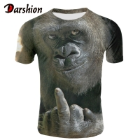 Men Animal t shirt Orangutan/monkey 3D Print tshirt Men Funny tees tops Short Sleeve O-neck 3D Print Summer Clothes XXS-4XL