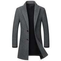 High Quality Winter Wool Jackets Men Wool Blends Casual Slim Outwear Black Wool Coat Men casaco masculino Long Trench Coat