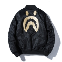 Popular Brand Ape Head Shark Jacket Men's BAPE Autumn And Winter Plus Cotton Pilots Coat Embroidered