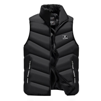2020 Vest Men Thick Waistcoat Windbreak Casual Style Quality Solid Slim Fit Atumn Winter Sleeveless Jacket Brand Clothing M-4XL