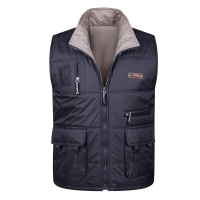 Winter Thick Warm Cotton Vest For Men Spring Autumn Male Casual Multi Pocket Photographer Sleeveless Baggy Jacket Mens Waistcoat
