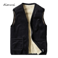 DIMUSI Winter Men Vests Fleece Thick Warm Waistcoat Outwear Casual Thermal Soft Vests Men Windreaker Sleeveless Jackets Clothing