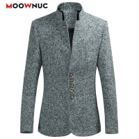 Blazers Men Hot Sale Spring 2020 Chinese style Autumn Casual Suits Large Size Male Fashion Suits High Quality Coat MOOWNUC 6XL
