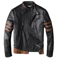 Wolverine Men's Winter Genuine Leather Jacket For Men Motorcycle Pilot Bomber Jacket Natural Real Leather Male Aviator Coat 2019