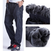 Grandwish Men Winter Sweatpants Warm Fleece Thick Pants Mens Loose Elastic Waist Pants Casual Pants Trousers With Pockets,DA897
