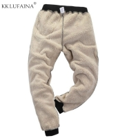 Men's Winter Super Warm Pants Outside Fleece Joggers Thicken Sweatpants Heavyweight Zipper Trousers Streetwear Men L 6XL 7XL 8XL