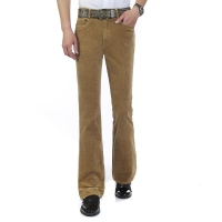 New arrival Men's Autumn Corduroy Boot Cut Pants Male Mid Waist Business casual Candy Color flares Corduroy Trousers 082503