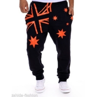 Free shipping 2016 Personality explosion models star printing pants fashion casual pants