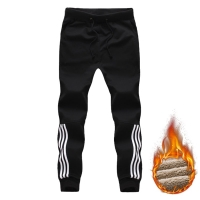 Male Thickening Sweatpants Mens Winter Outdoor Trouser 2019 Elastic Waist Waterproof Sports Pants Warm Windproof Pants Joggers