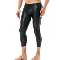 Thermal Leather Sexy Stretch Mens Leggings Pants Faux Leather Fitness Pants PVC Winter Underpants Clothes Men