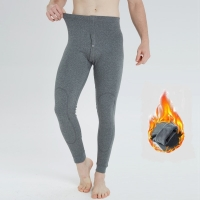 2018 New Men pants Winter thermal underwear full length leggings thick fleece warm pant