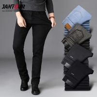 High quality Black Gray Brands Jeans Trousers Men Clothes Elasticity Skinny Straight Jean Classic Denim Casual pants Male 28-40