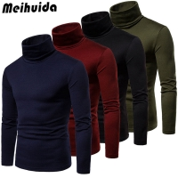 Winter Men'S Sweater 2019 New Spring Men'S Turtleneck Solid Color Casual Sweater Men's Slim Fit Brand Knitted Pullovers