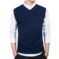 2019 hombre casual sweater vest winter sleeveless suéter men v-neck waistcoat