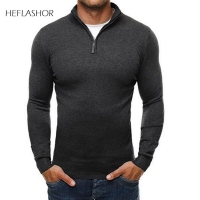 HEFLASHOR 2020 Autumn Men Sweater Pullovers Solid Basic Simple Knitted V neck Sweaters Jumpers Thin Male Knitwear Plus Size 3XL