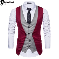 mens suits Vest  new male Top boys popular selling fashion business casual wear men Waistcoat clothing Hot sale