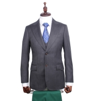 Herringbone Business Men Suits Custom Made Bespoke Classic Wedding Suits For Men Tailor Made Suit Wool Tuxedos For Men