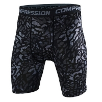 HEFLASHOR Plus Size Skinny Shorts Men Casual Compression Elastic Waist Short homme Fashion Camouflage Printed Sportwear Shorts